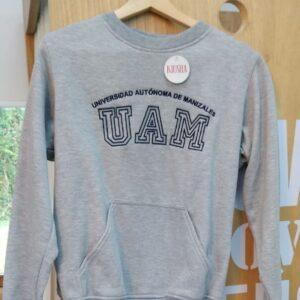Buzo UAM gris sin capota